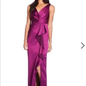 Adrianna Papell ruffled gown